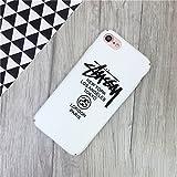 STUSSY ステューシー iPhone7用ケース iPhone7PLUSカバー ケースロゴデザイン フリント ブランド ヒップホップド (iphone7, ホワイト) [並行輸入品]