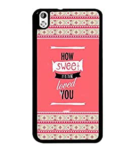 PrintDhaba Quote D-4680 Back Case Cover for HTC DESIRE 816 (Multi-Coloured)
