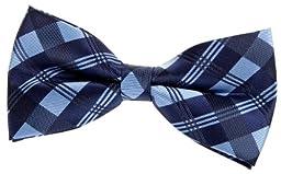 Retreez Tartan Check Patterns Woven Microfiber Pre-tied Bow Tie (Width: 5\