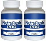 NUTRAFLUSH PRO (2 Bottles) - Complete Colon Cleanser and Full Body Detox Cleanse Supplement. 60 Capsules