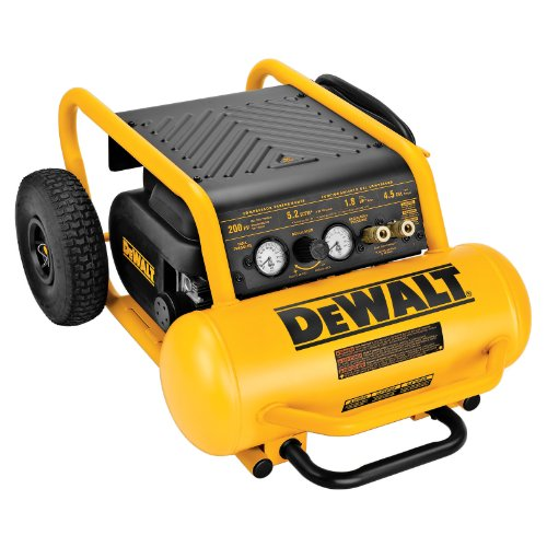 DEWALT D55146 4-1/2-Gallon 200-PSI Hand Carry Compressor with Wheels (Parts For Air Compressor Dewalt compare prices)