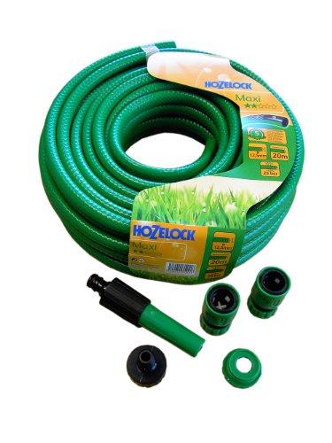 Maxi 00110870 Wasserschlauch 12,5 mm grün 20 m Rolle mit Armaturen