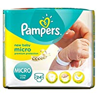 PAMPERS New Baby size 0 (1-2,5 kg) - Pack of 24 nappies