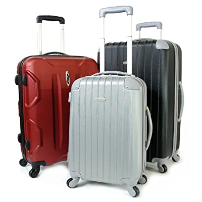 Karabar Cabin Approved Hard Suitcase 55 x 38 x 20 cm all parts included - 3 Years Warranty!