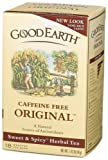 Good Earth Original Caffeine Free Tea Bags, 18-Count, Boxes