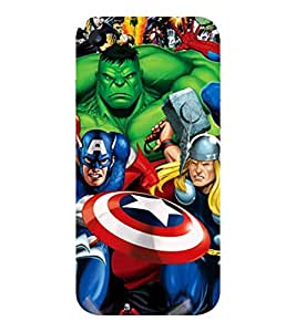 Evaluze superhero Printed Back Cover for APPLE IPHONE 7