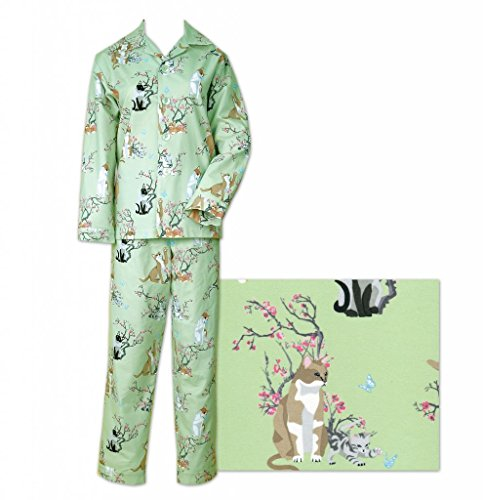 Green Cotton Pajamas back-999544