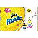 Bounty Basic Paper Towels, Minion Prints, Big Roll - 6 pk