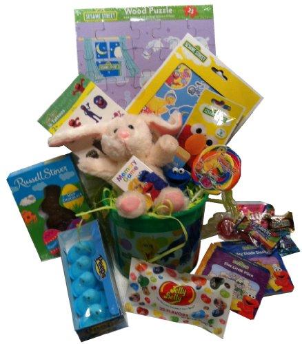 Sesame Street ~ Filled Easter Basket front-993375
