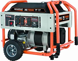 5798 Generac XG7000E - 7000 Watt Electric Start Portable Generator,49-State