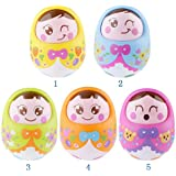 Catterpillar Push And Shake Wobbling ,UNBREAKABLE,Roly Poly Tumbler Rattle Doll With Soft & Sweet Bell Sounds...