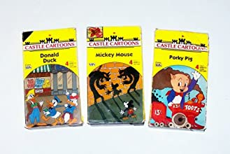 Classic Cartoons Collection 18 3pk Mickey Mouse Donald Duck Porky Pig and friends