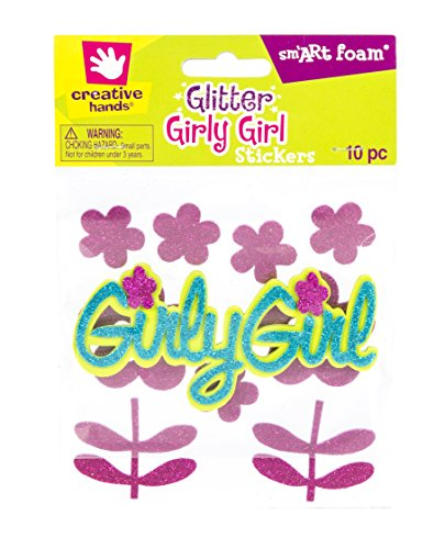 Fibre-Craft Creative Hands smART Foam Glitter Stickers 10/Pkg-Girly Girl - 1