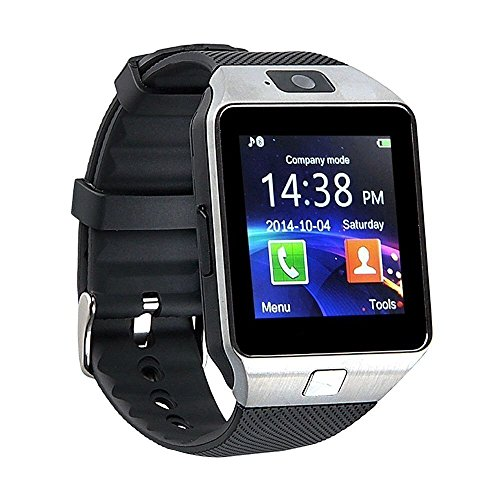 ESTAR Samsung Galaxy S Duos (GT-S7562) COMPATIBLE BLUETOOTH Smart Watch Phone With Camera and Sim Card Support With Apps like Facebook and WhatsApp Touch Screen Multilanguage Android/IOS Mobile Phone Wrist Watch Phone with activity trackers and fitness band features by Estar  available at amazon for Rs.1799