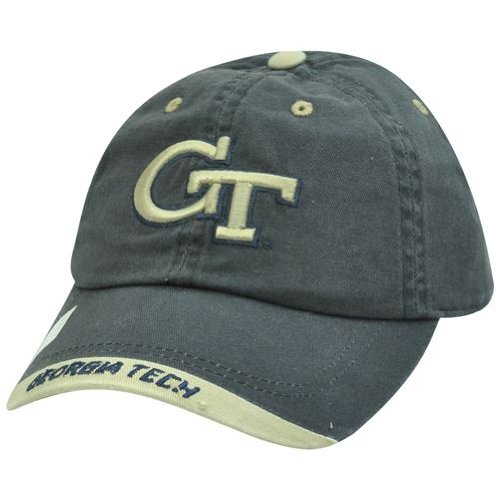 NCAA Georgia Tech GT Yellow Jackets Garment Wash Khaki Tip Sun Buckle Hat Cap at Amazon.com