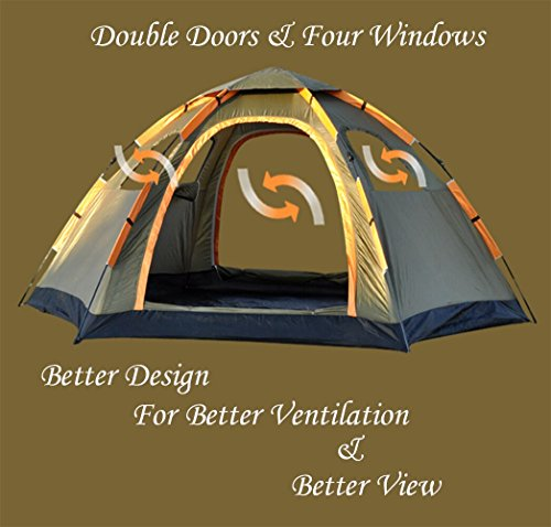 Wnnideo Instant Family Tent 6 Person Large Automatic Pop Up ...  sc 1 st  Survival Explorer & Wnnideo Instant Family Tent 6 Person Large Automatic Pop Up Tents ...