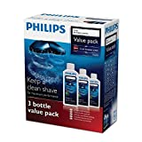 New Philips HQ203 3 X Pack 300ml Jet Clean Salon Shaver Cleaning Solution Refill