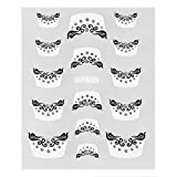 Everydaysource® White/ Black Veil with Diamonds 3D Nail Art DIY Tattoo Stickers