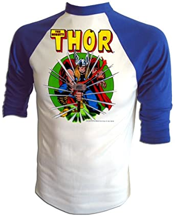 Vintage 1975 Marvel Comics Jack Kirby THOR cartoon t-shirt by American Ringer
