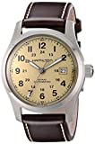 Hamilton Khaki Field Beige Dial Brown Leather Automaic Mens Watch H70555523
