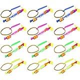 Set Of 12 VT LED Light Up Sling Shot Flare Arrow Party Favor Toy Flyers