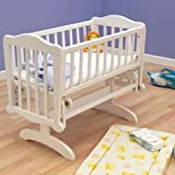 Saplings Glider Rocker Nursery Crib White 90x40cm