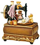 Musicbox World 25090 Sewing Machine with Bear Playing It'S A Small World