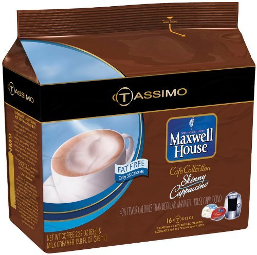 Maxwell House Caf? Collection Skinny Cappuccino (Fat-Free) T-Discs for Tassim... (Tassimo Fat Free compare prices)