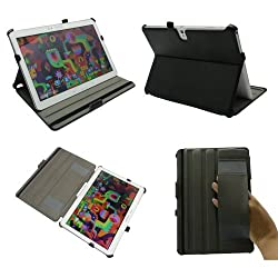 Premium Leather Cover Sleeve Case with Auto Sleep Mode and Multi-angle Smart Stand Built-in Hand Grip for Samsung Galaxy TabPro 10.1 Tab Pro 10.1 inch Tablet