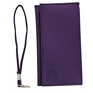 Jo Jo A5 G8 Leather Wallet Universal Pouch Cover Case For Wiio WI3 Purple