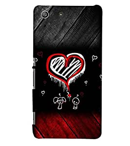 PRINTSWAG HEART PATTERN Designer Back Cover Case for SONY XPERIA M5 DUAL