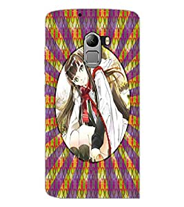 PrintDhaba Beautiful Girl D-3267 Back Case Cover for LENOVO K4 NOTE A7010a48 (Multi-Coloured)
