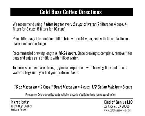 Cold Buzz Coffee (Medium) - Cold Brew Iced Coffee Packs