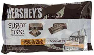 Hershey's Sugar Free Assortment, Milk Chocolate and Caramel Filled Chocolate, 8-Ounce Bags (Pack of 3)
