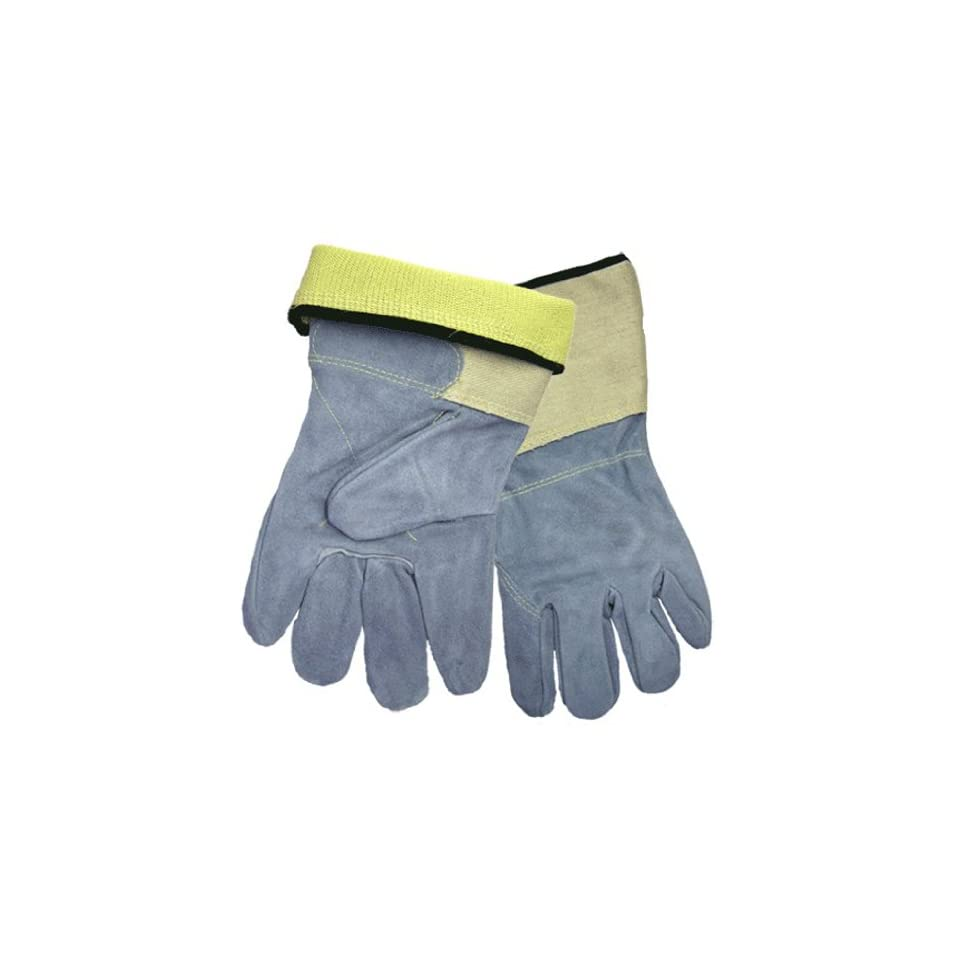 Global Glove 2150KFGC Kevlar Leather Premium Grade Glove with Full Back and Gauntlet Cuff, Cut Resistant, Extra Large (Case of 72)