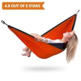 Parachute TM Double Hammock ? Best All-in-One Portable Lightweight Two Person Hammock With Ropes & S-Hooks ? Because outside is the new inside!