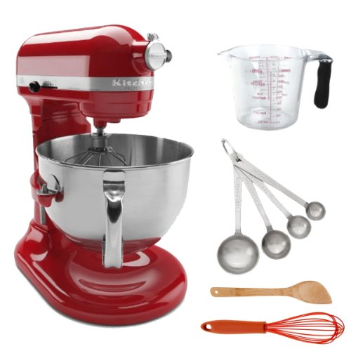 Kitchenaid Kp26m1xer 6 Qt. Bowl Lift Stand Mixer Empire Red + Measuring Cup 1000ml + 4 Piece Stainless Steel Measuring Spoons + Accessory Kit Big Discount