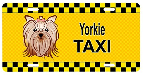 Carolines Treasures BB1328LP Yorkie Yorkishire Terrier Taxi License Plate (Dog Taxi License Plate compare prices)