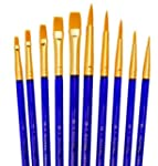 Quality Brush Sets Of 10 Artist Paint...