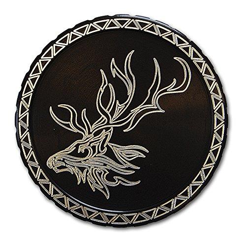 DipLidz Engraved snuff lid Tribal Elk (Black, Copenhagen Fiber Board) (Engraved Snuff Can Lids compare prices)