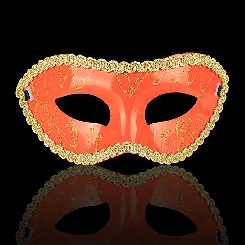 [YARBAR Handmade Venetian Style Masks for Halloween Masquerade Party Dance Wedding Birthday Carnival] (Venetian Carnival Masks)
