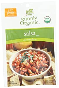 Simply Organic Organic Dip Mixes Salsa Mix Certified Organic, 1-Ounce Packets (Pack of 12)
