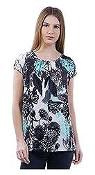 MERCH21 Women's Regular Fit Top (MERCH-322-MULTICOLOR, Multi-Coloured, L)