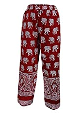 Indiatrendzs Women Pant Rayon Animal Print Red Evening Wear Yoga Harem Pants