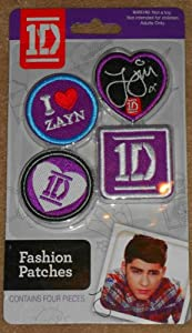 1D One Direction Fashion Patches Autographed - Iron On Zayn 4pc from One Direction