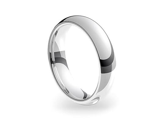 9ct White Gold Heavy Court 5mm Wedding Ring