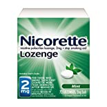 Nicorette Stop Smoking Aid, 2 mg, Lozenges, Mint, 72 ct.