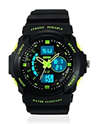 Skmei Sports Stop Watch Analog - Digital Green Dial Mens Watch - AD0955