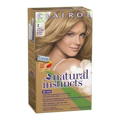 Clairol Natural Instincts, Semi-Permanent Hair Color, Blondes, 1 Kit