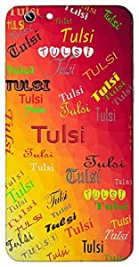 Tulsi (Sacred plant) Name & Sign Printed All over customize & Personalized!! Protective back cover for your Smart Phone : Samsung Galaxy E5